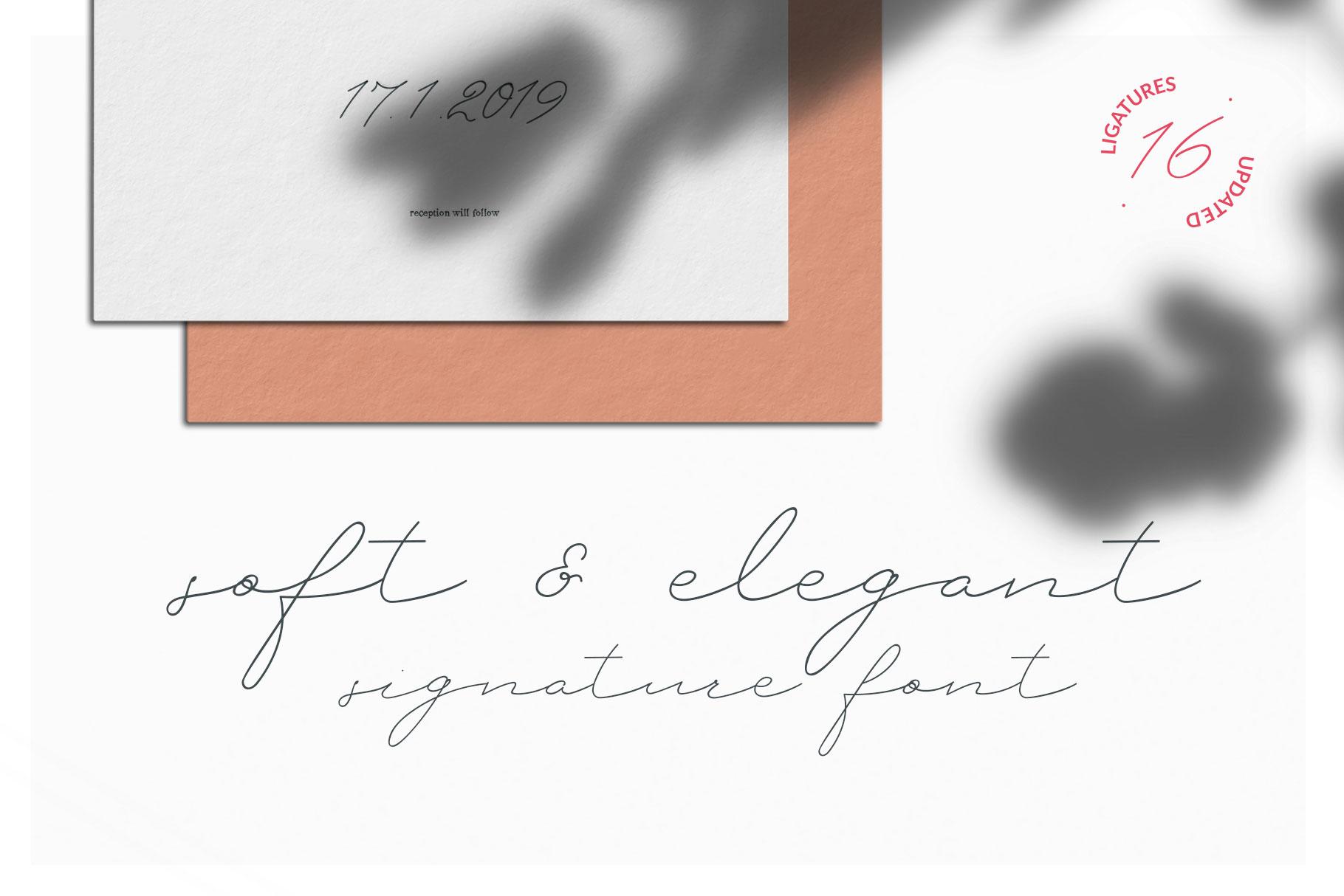 Petit Nuage Signature Font example image 6