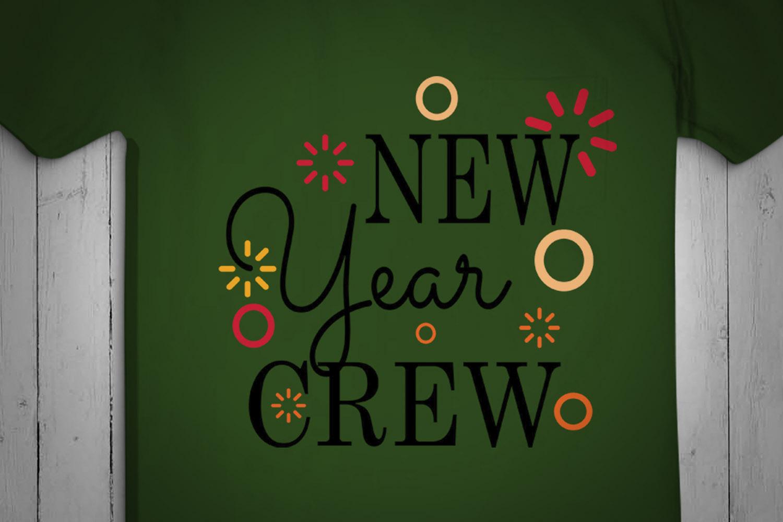 New Year Crew, christmas, Christmas Svg, Christmas Design example image 2