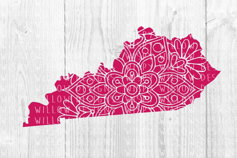 Kentucky State Mandala SVG Cut File example image 2