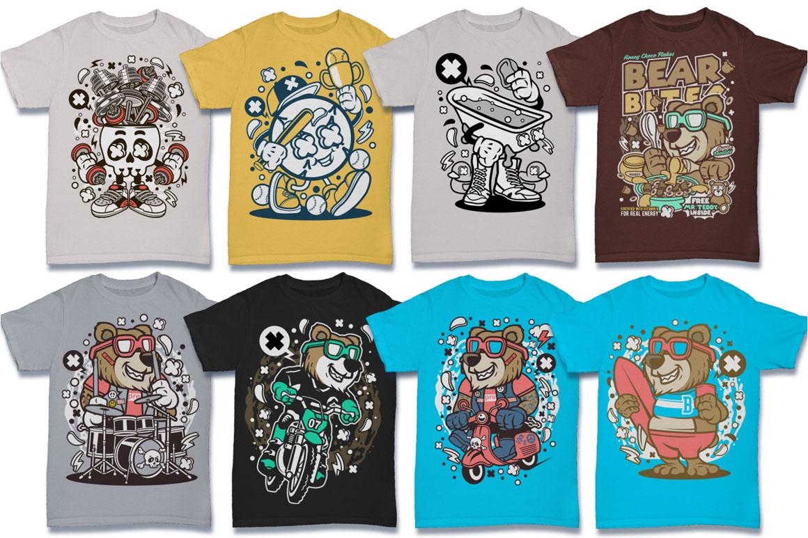 Cartoon Vector #6 Tshirt Design Bundle example image 3
