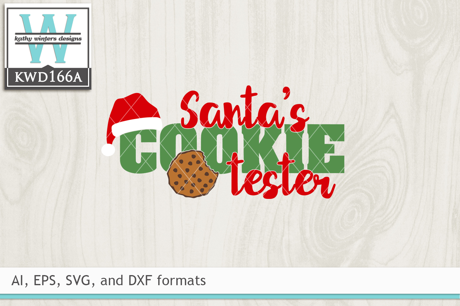 Christmas SVG - Santa's Cookie Tester example image 2