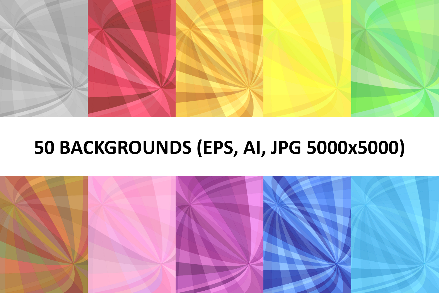 50 Curved Backgrounds (AI, EPS, JPG 5000x5000) example image 1