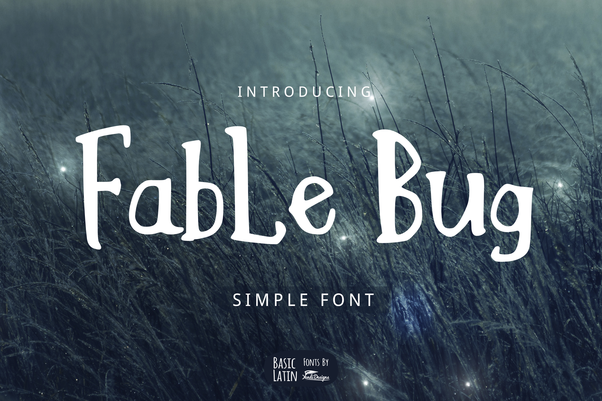 Fable Bug Simple Font example image 1