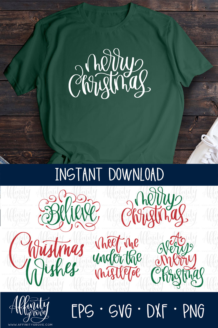 Hand lettered Christmas SVG Bundle! example image 5