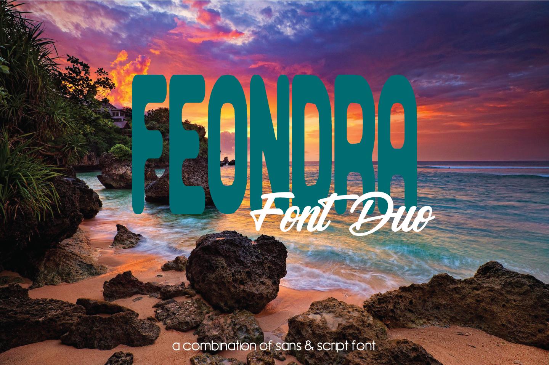 Feondra Font Duo | a Combination of Sans & Script Font example image 1