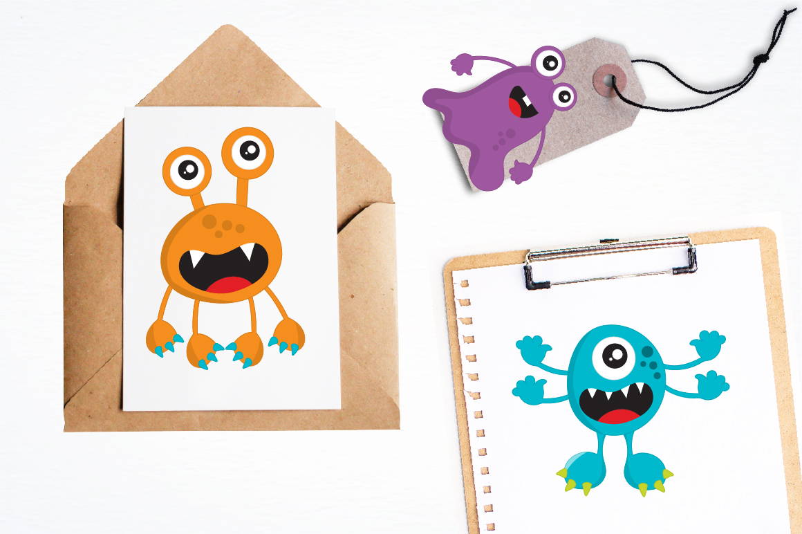 Party Monsters graphics and illustrations example image 4