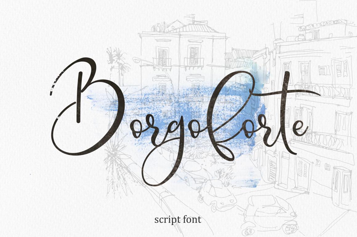 Borgoforte script font example image 1
