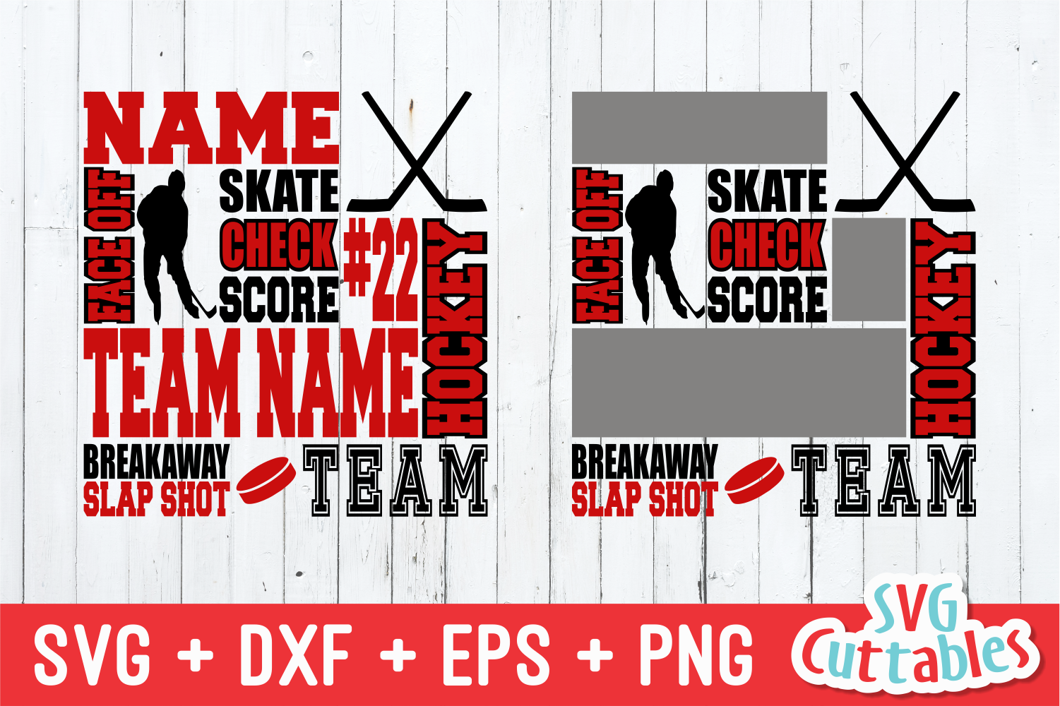 Hockey svg, Hockey Subway Art svg cut file example image 1