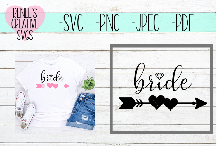 Bride Wedding | SVG Cutting File example image 1