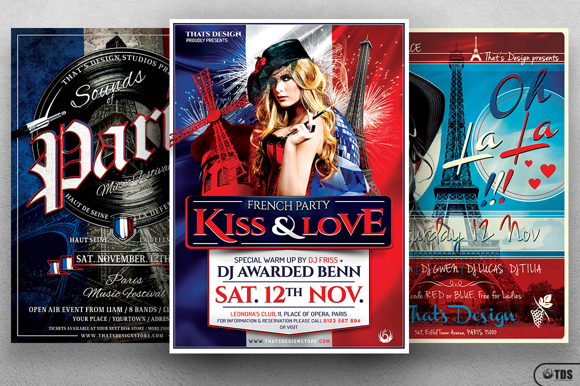 French Party Flyer Bundle example image 1