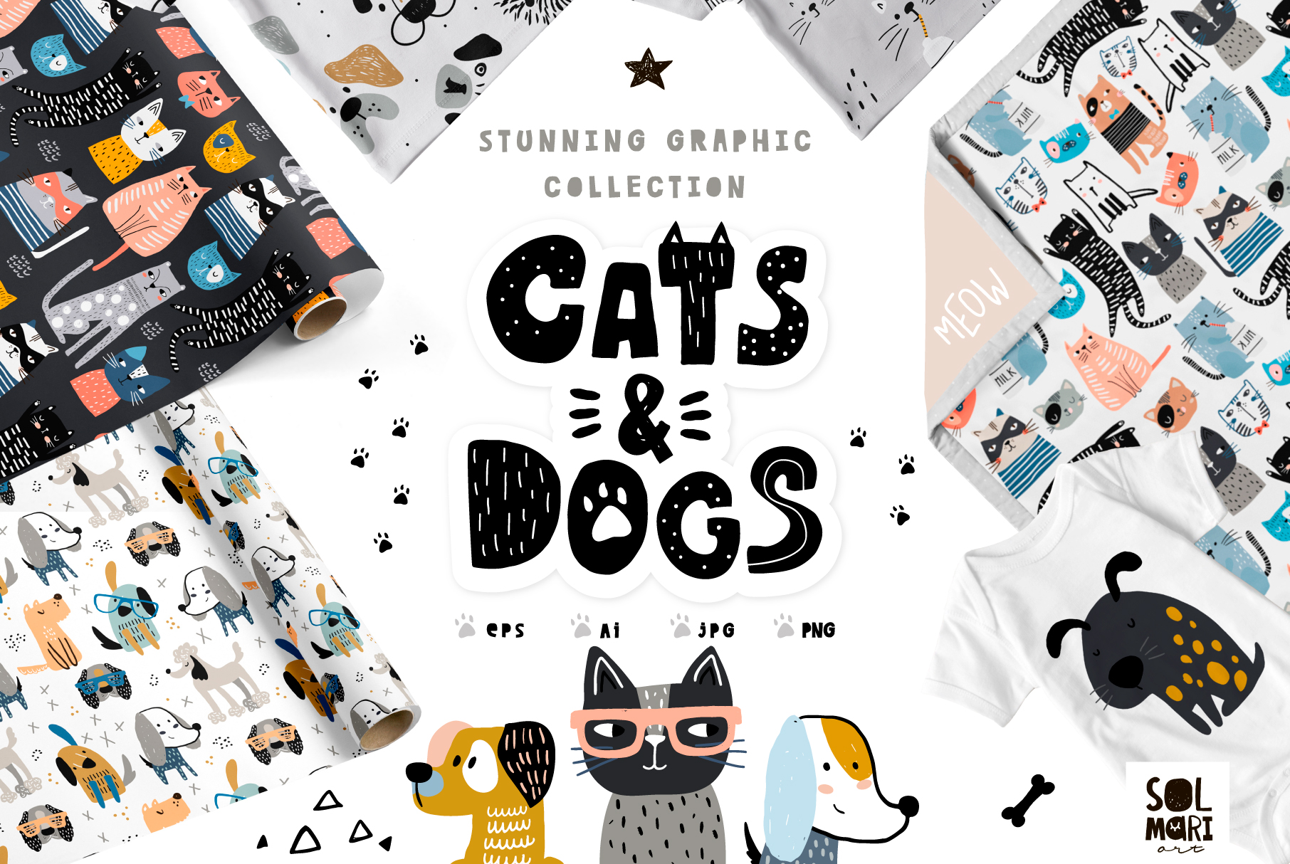 Cats&Dogs graphic collection example image 1