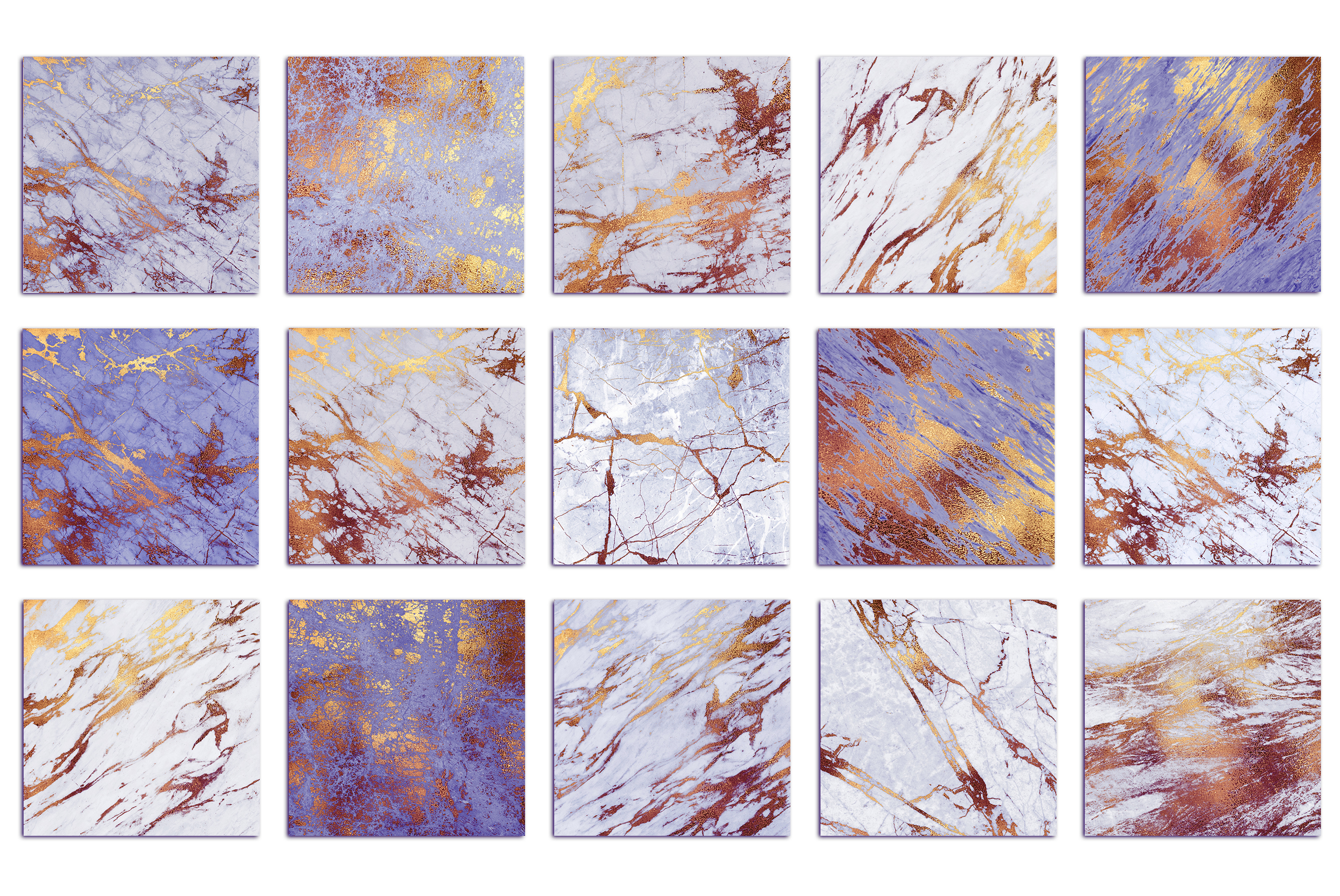 Purple and Gold Marble Textures example image 3