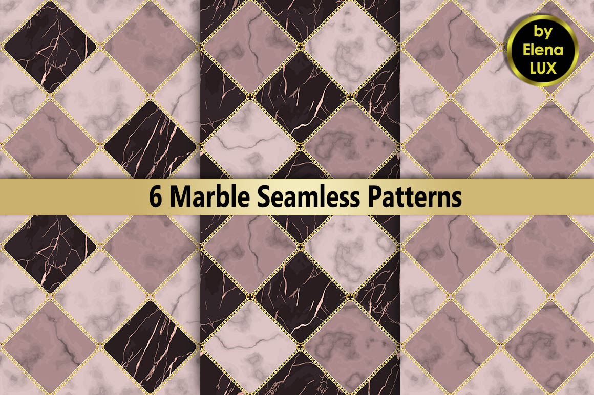 Marble and Chain Seamless Set example image 1