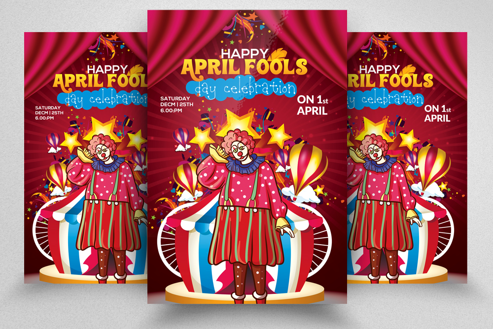 4 April's Fool Day Flyers Bundle example image 4