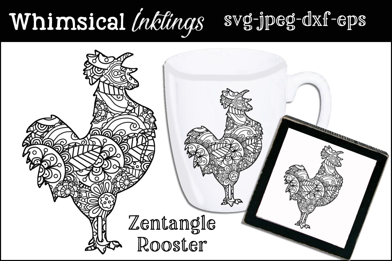 Zentagle Rooster SVG example image 1