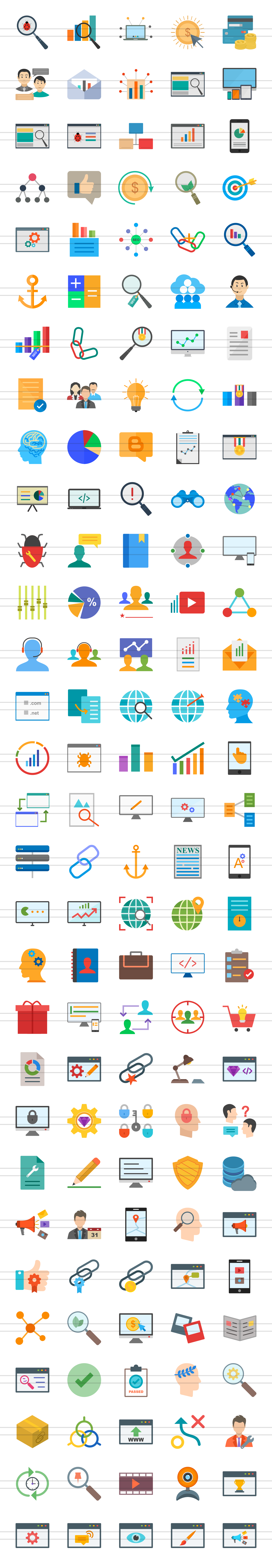 150 IT Services Flat Icons example image 3