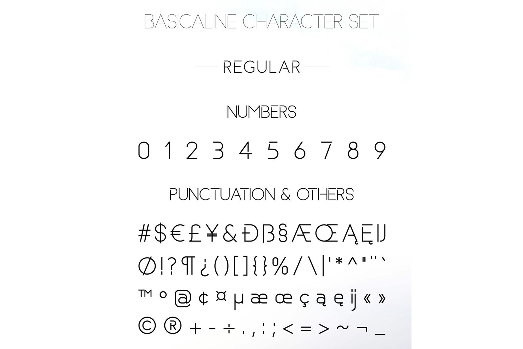 Basicaline Font Family - Sans Serif example image 11