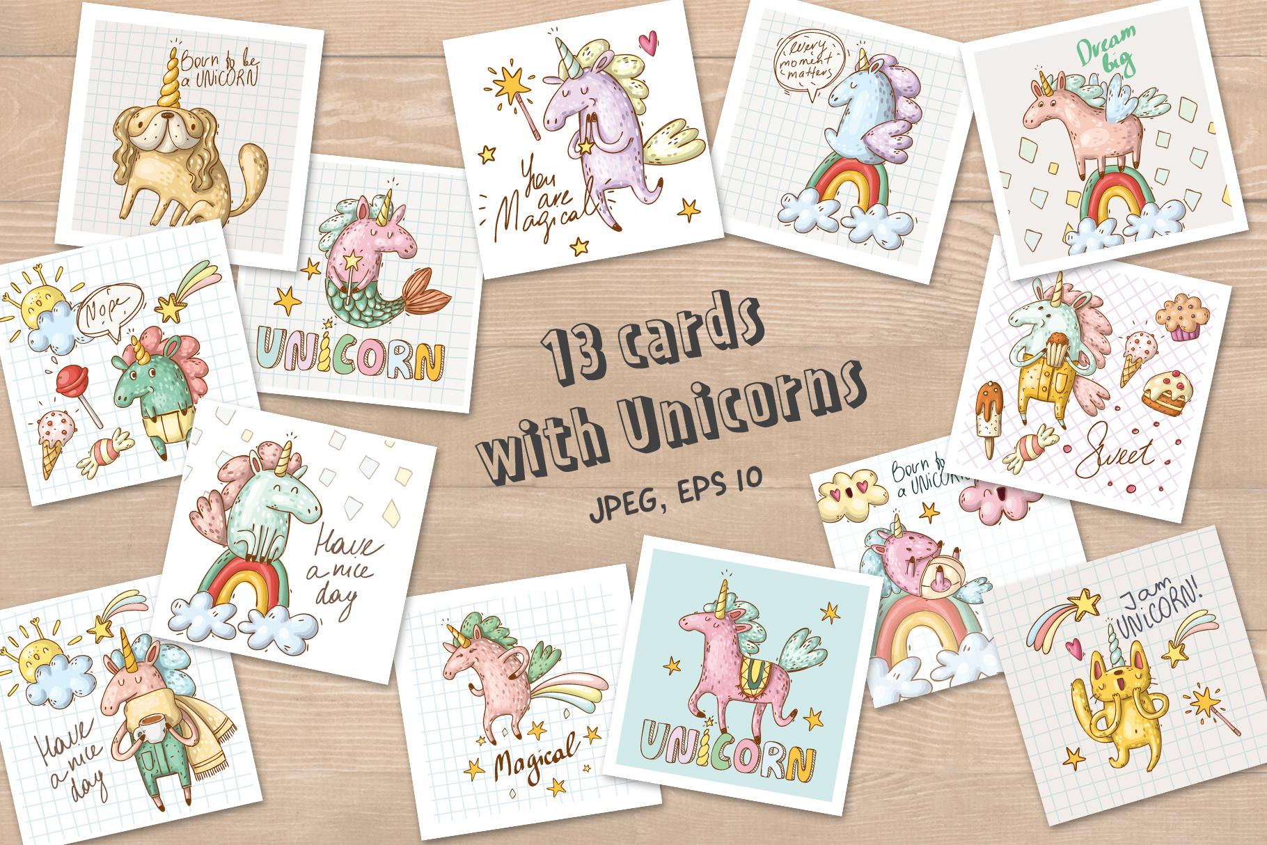 Magical unicorns set example image 6