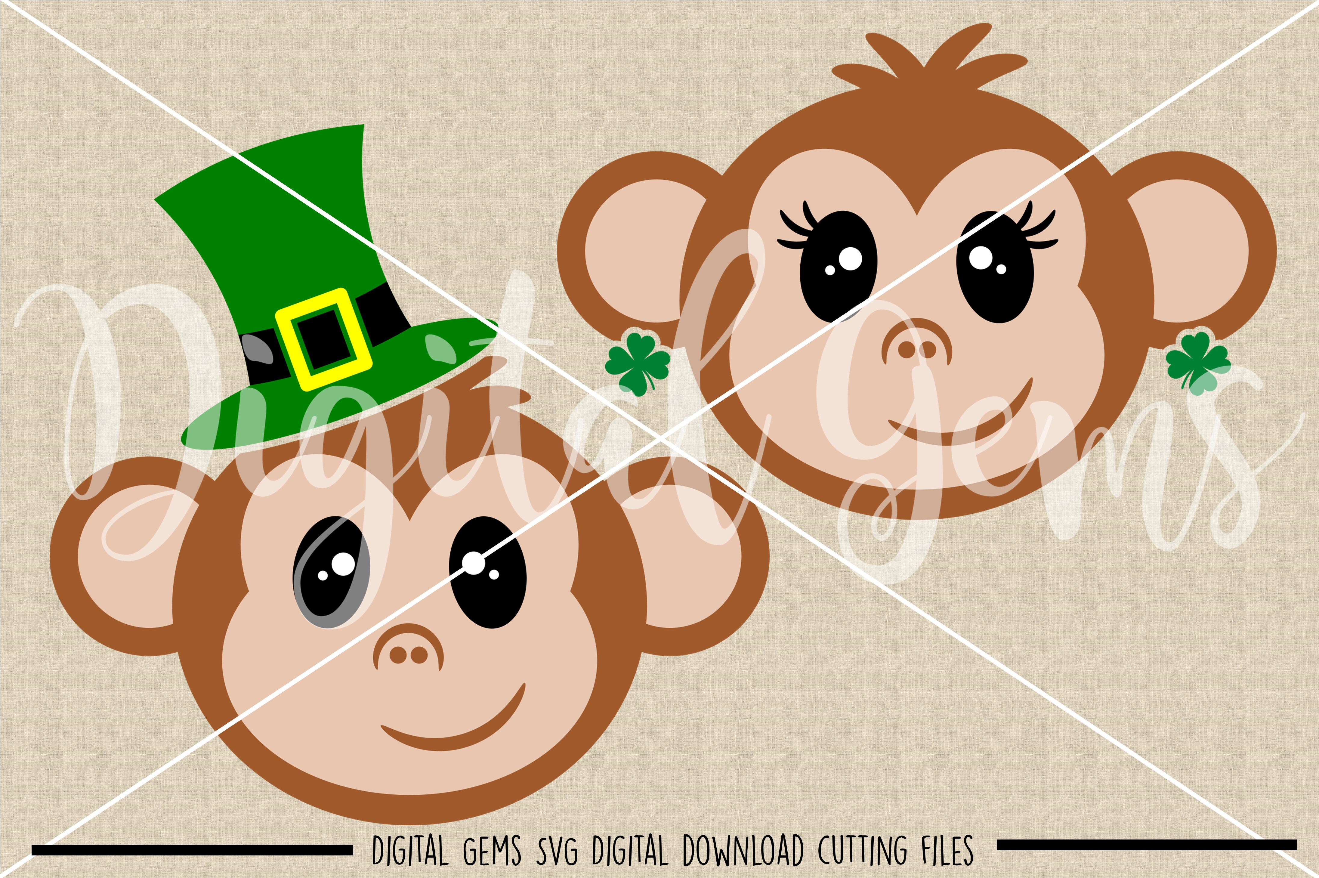 Monkey SVG / PNG / EPS / DXF Files example image 2