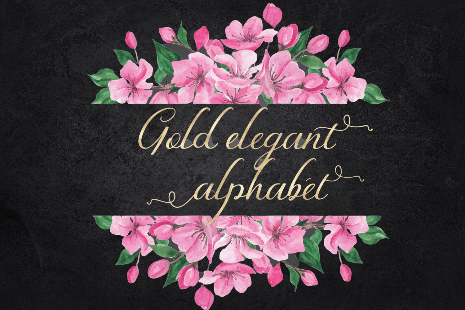 Gold foil alphabet, Gold letters clipart, Gold numbers example image 1