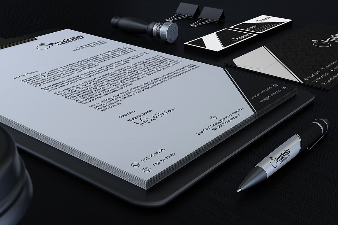 Black And White Corporate Identity example image 2