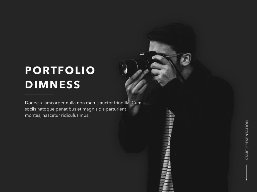 Dimness Keynote Template example image 2