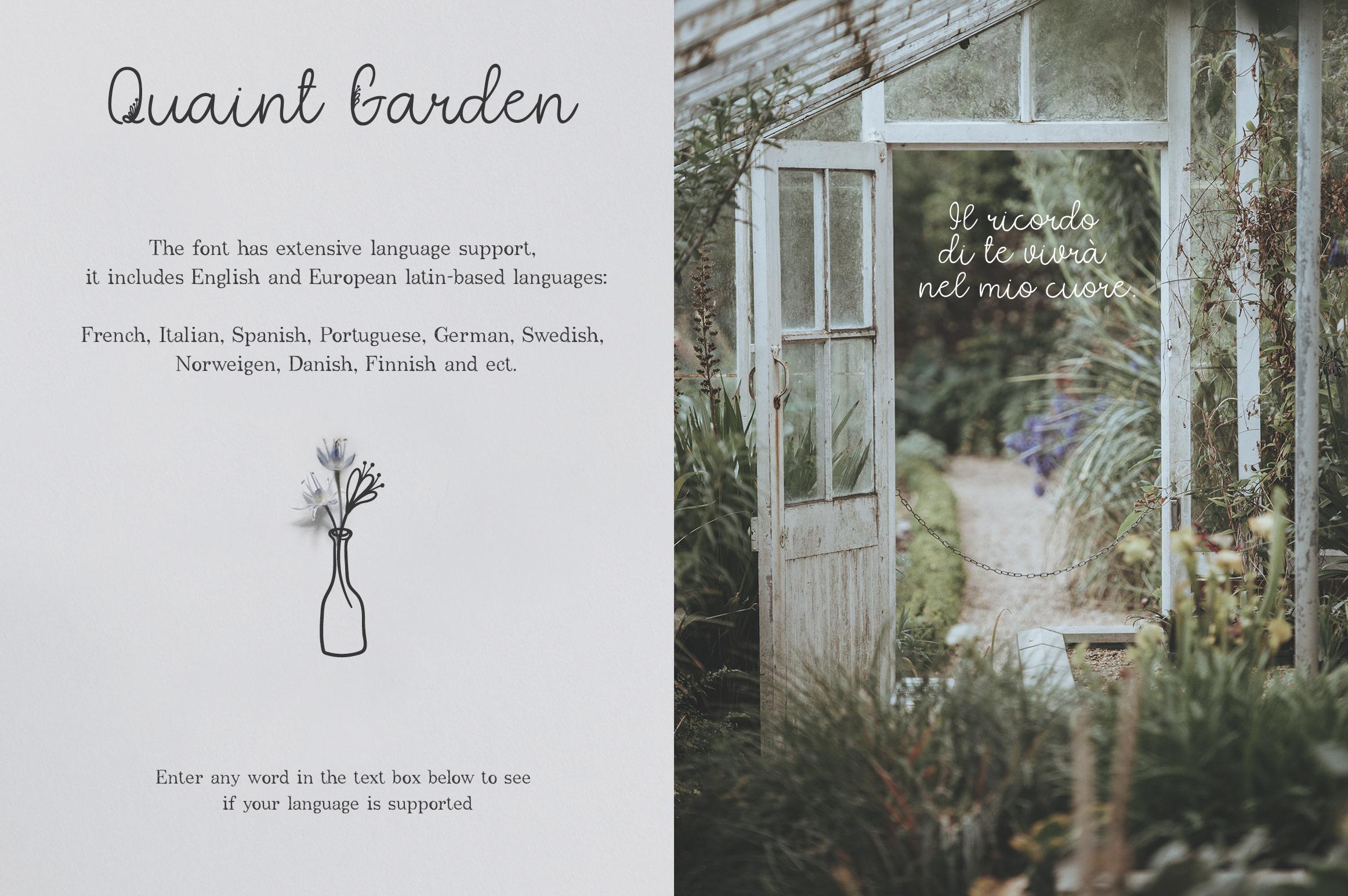 Quaint Garden Floral Font EXTRAS example image 6