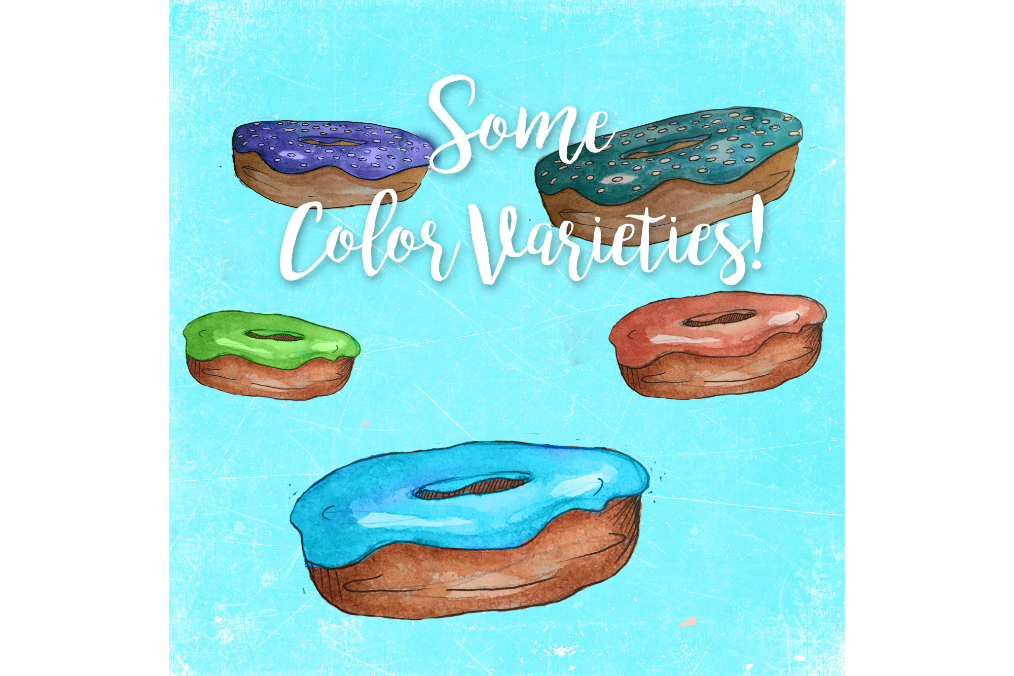 Watercolor Doughnuts example image 3