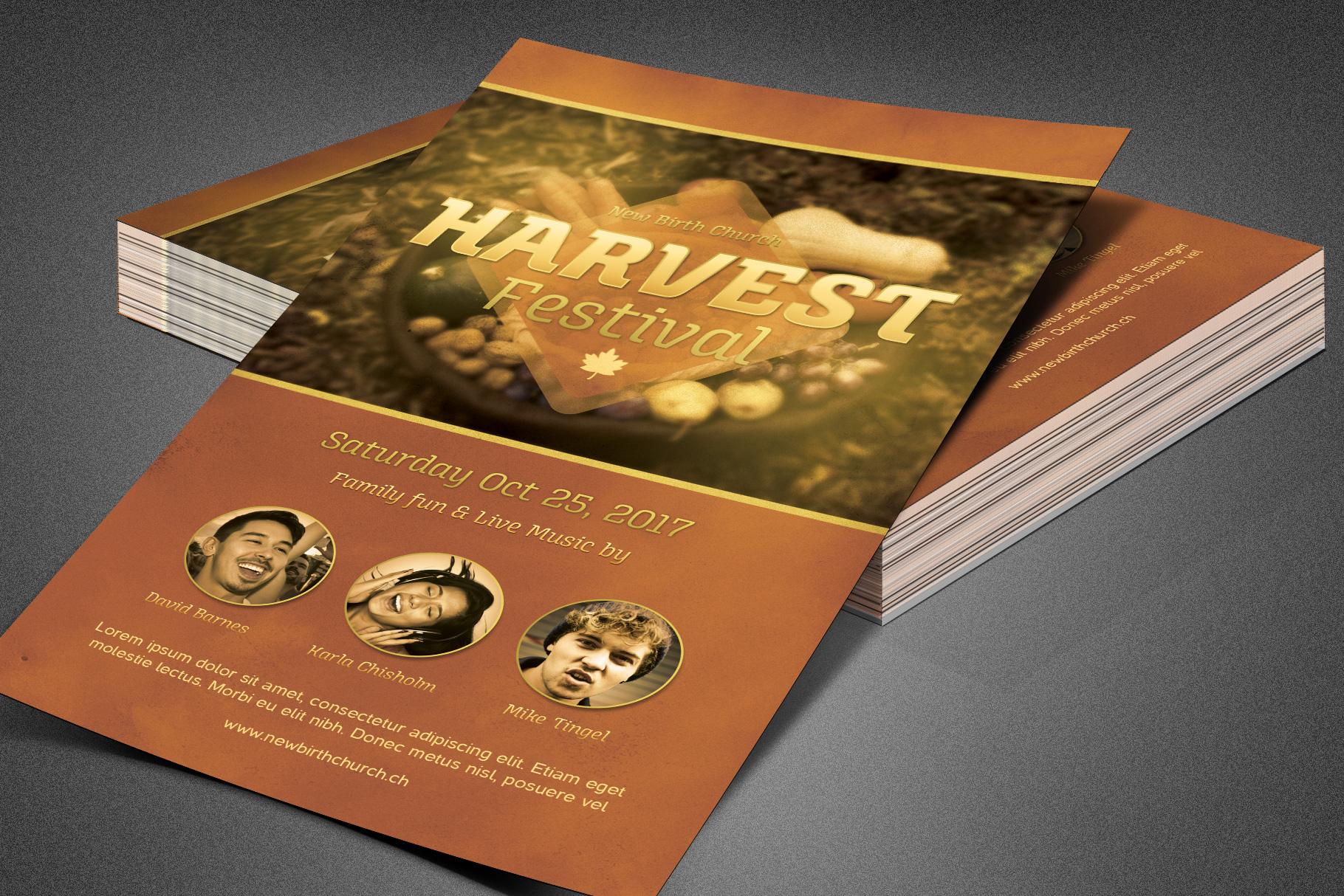 Harvest Festival Church Flyer example image 3