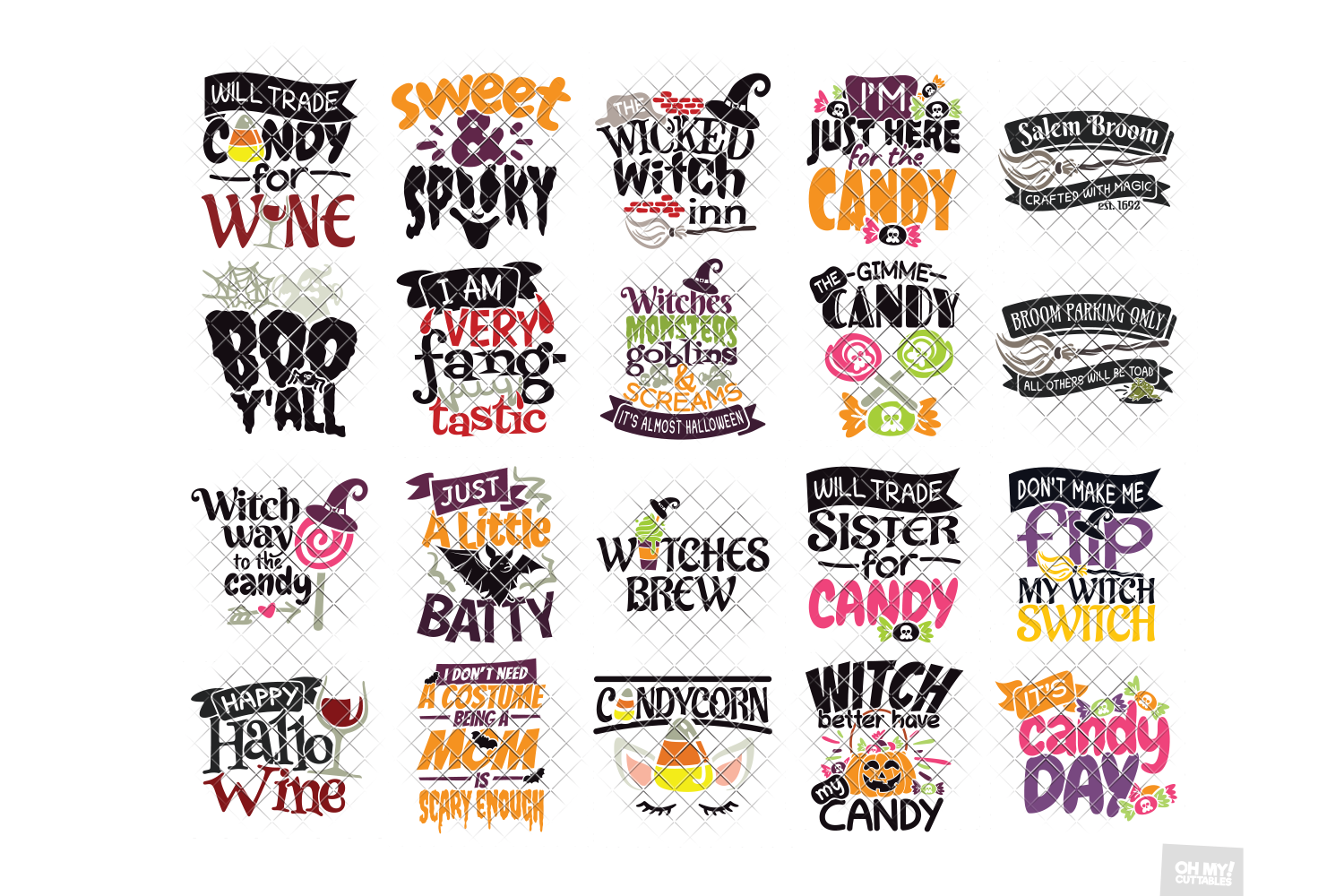 Halloween SVG Quotes & Phrases Bundle in SVG, DXF, PNG, EPS example image 8
