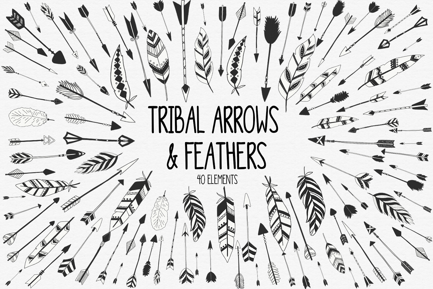 Tribal Arrows and Feathers example image 1