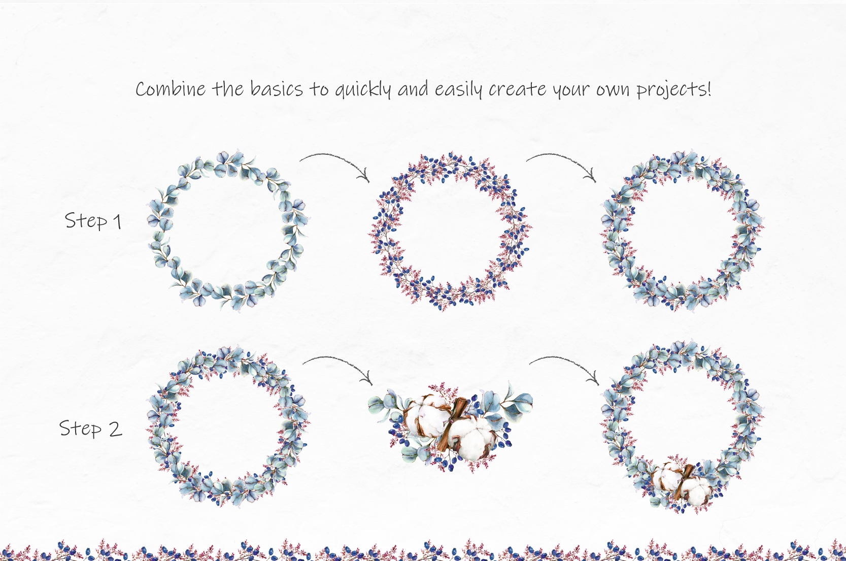 Watercolor Winter Wreaths | Clipart example image 6