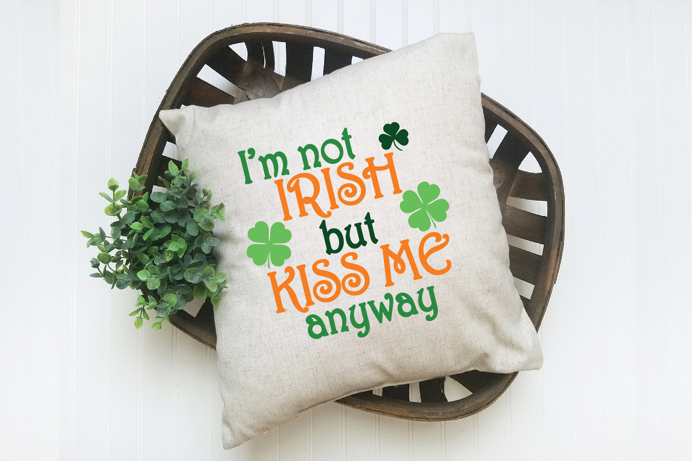I'm not Irish but Kiss Me Anyway SVG Cut File - DXF - EPS example image 6