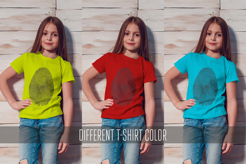 Kids T-Shirt Mock-Up Vol.1 2017 example image 12
