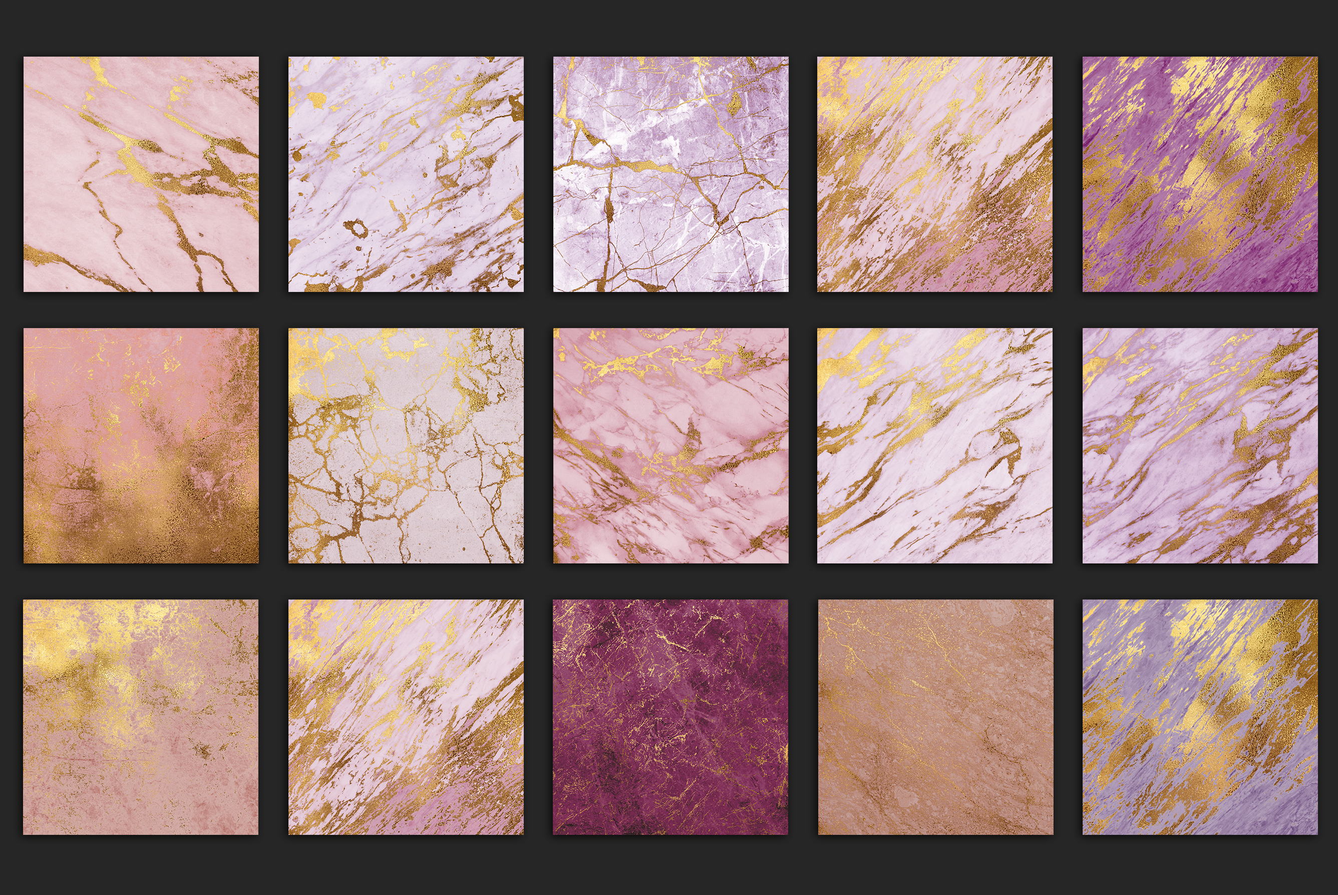 Rose Gold Marble Textures example image 4