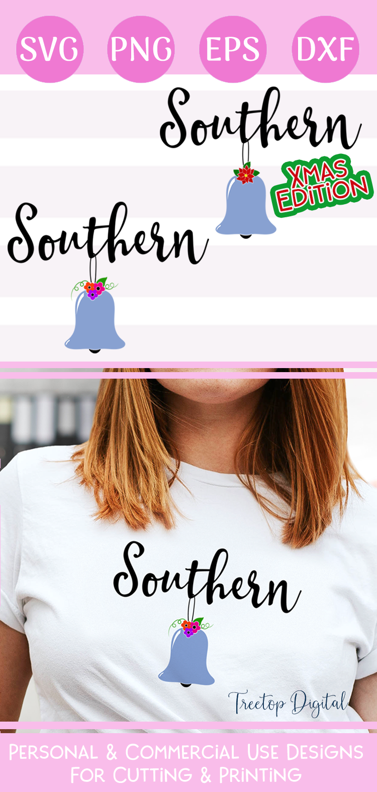 Southern Belle Cut or Print Files, For Everyday and Xmas example image 5