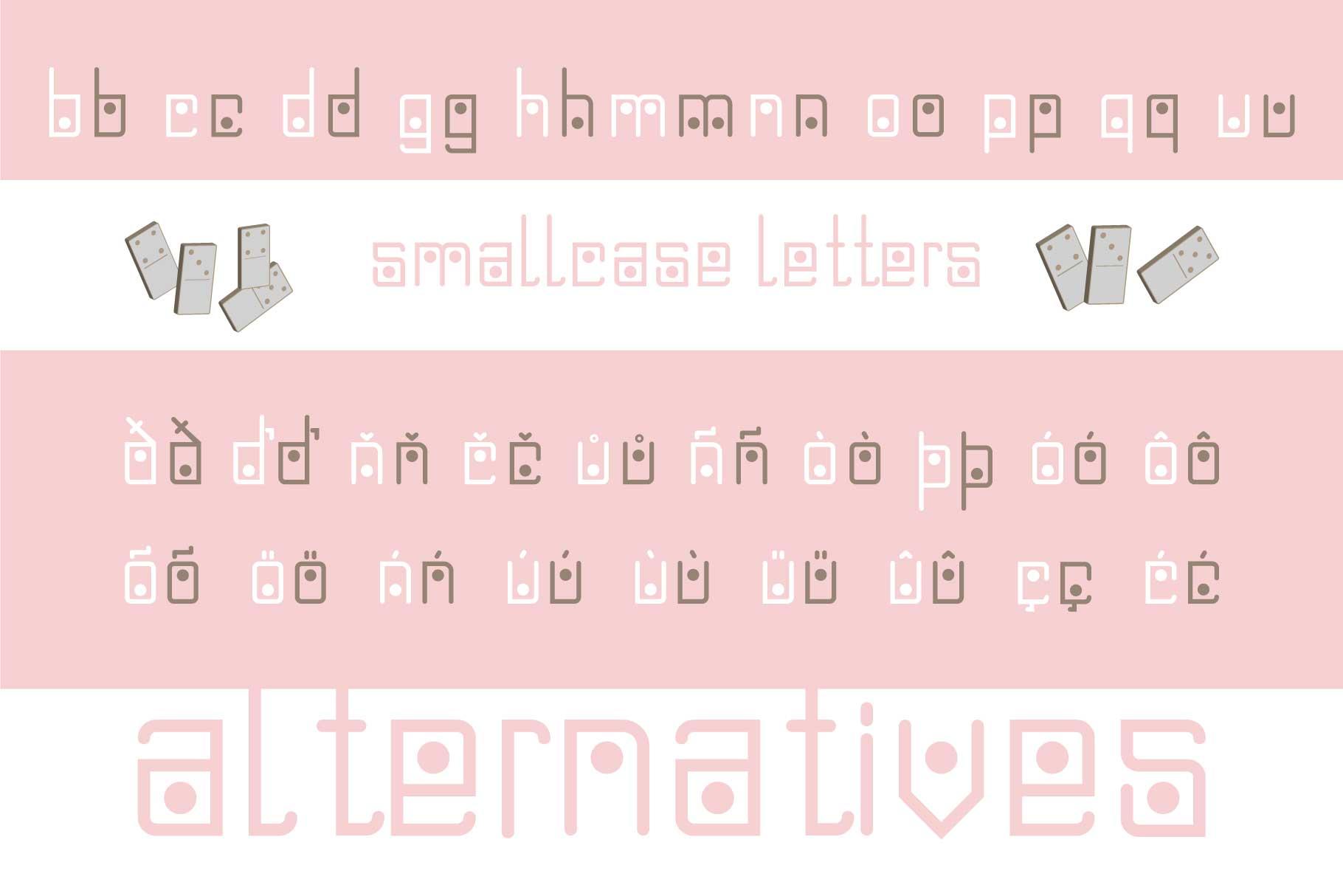 Domino-dot monospace san serif font duo example image 12