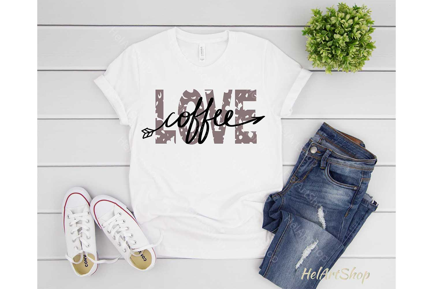 Love Coffee svg, Distressed svg, Grunge svg, Coffee lover example image 3