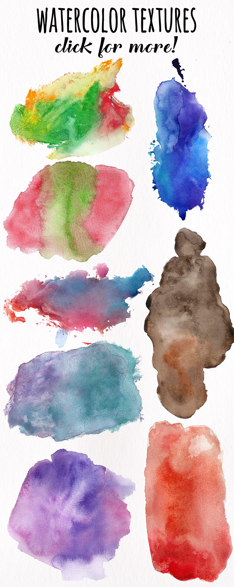 Watercolor Textures - card edition example image 15