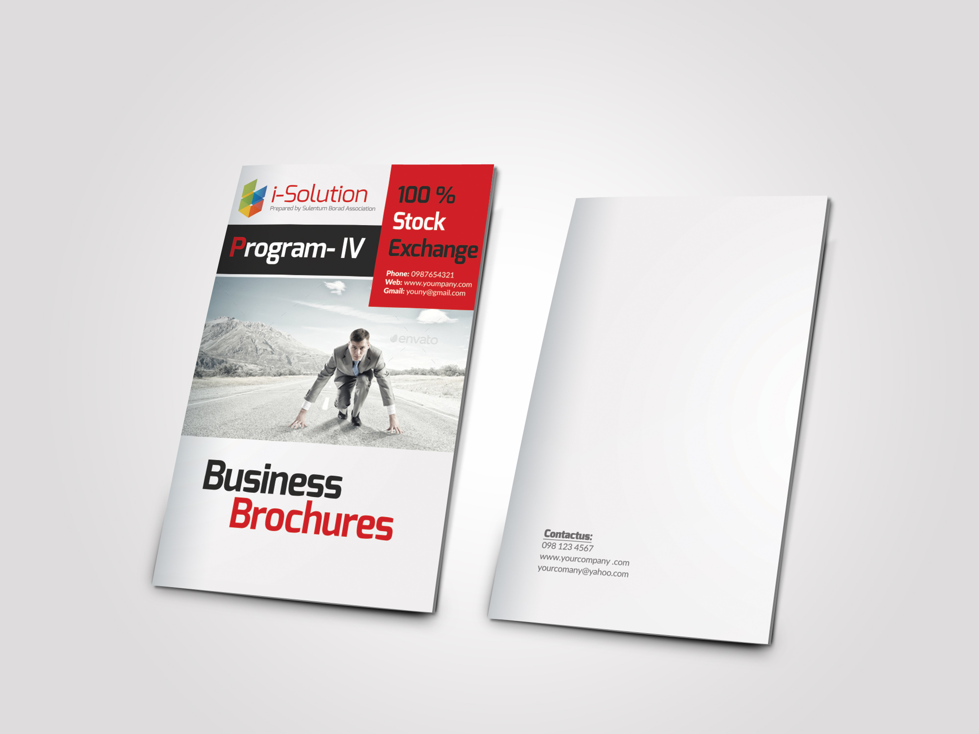 12 Pages Employment Business Bifold Brochure example image 2