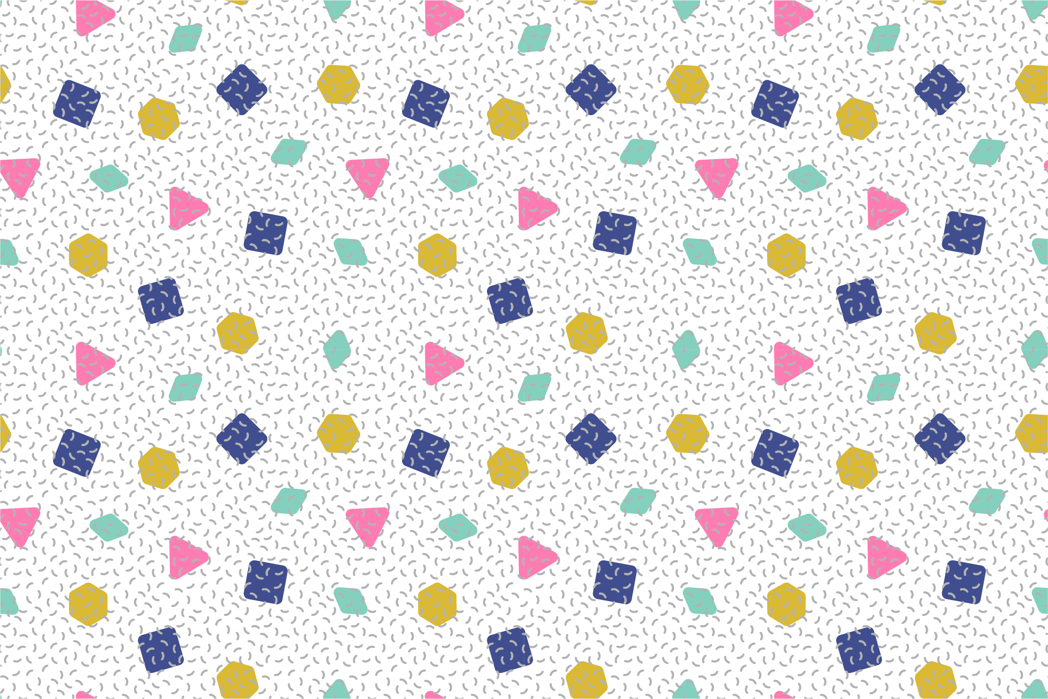 Colorful seamless memphis patterns example image 8