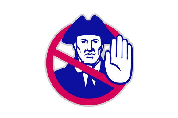American Patriot Stop Sign Retro example image 1