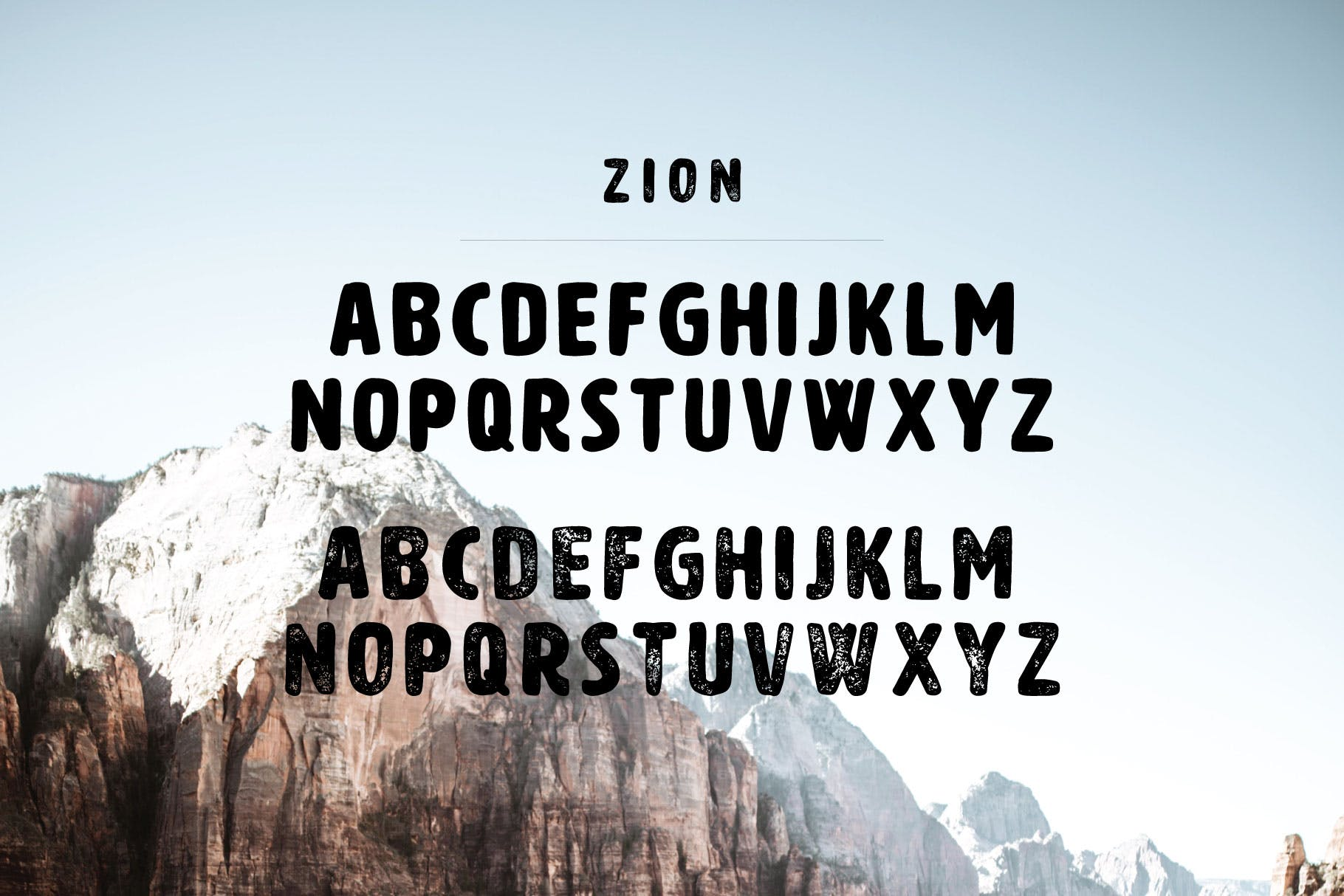 Zion | An Eroded Grunge Font example image 2