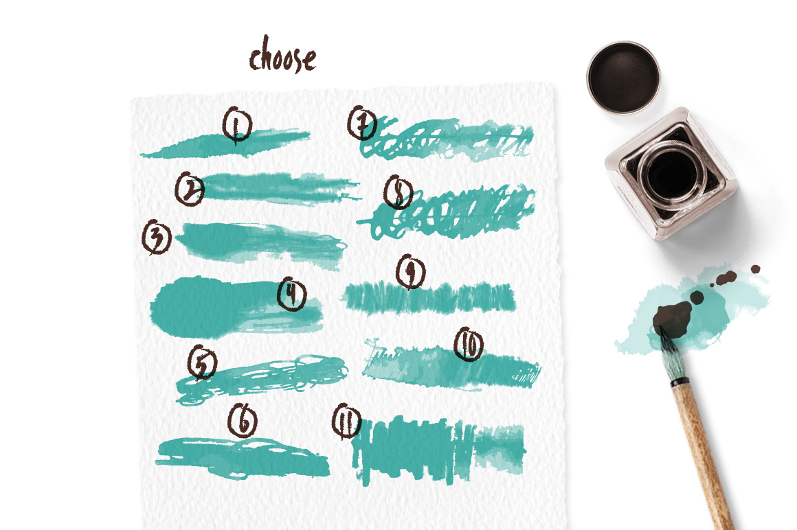 Scribble Brushes for Illustrator example image 2