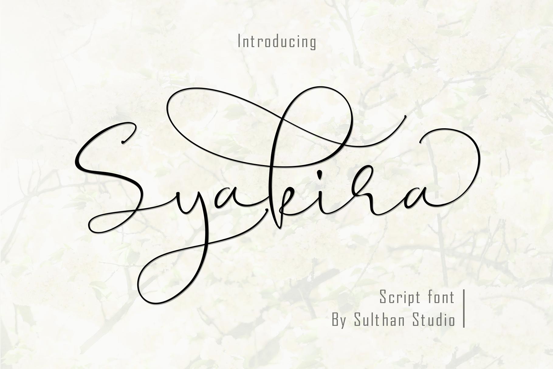 Syakira Script example image 1