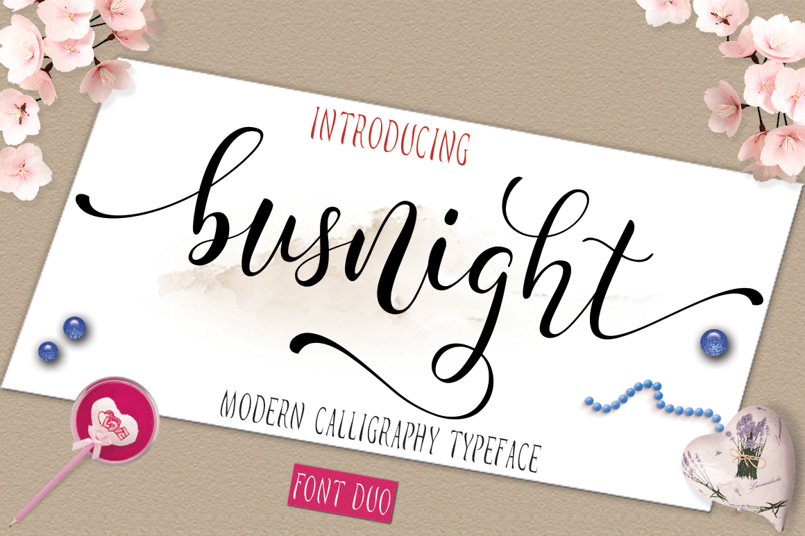 Busnight Font Duo example image 1