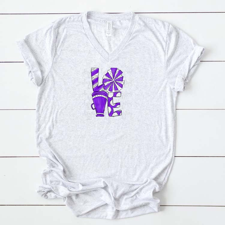 Cheer Love Purple and White example image 2