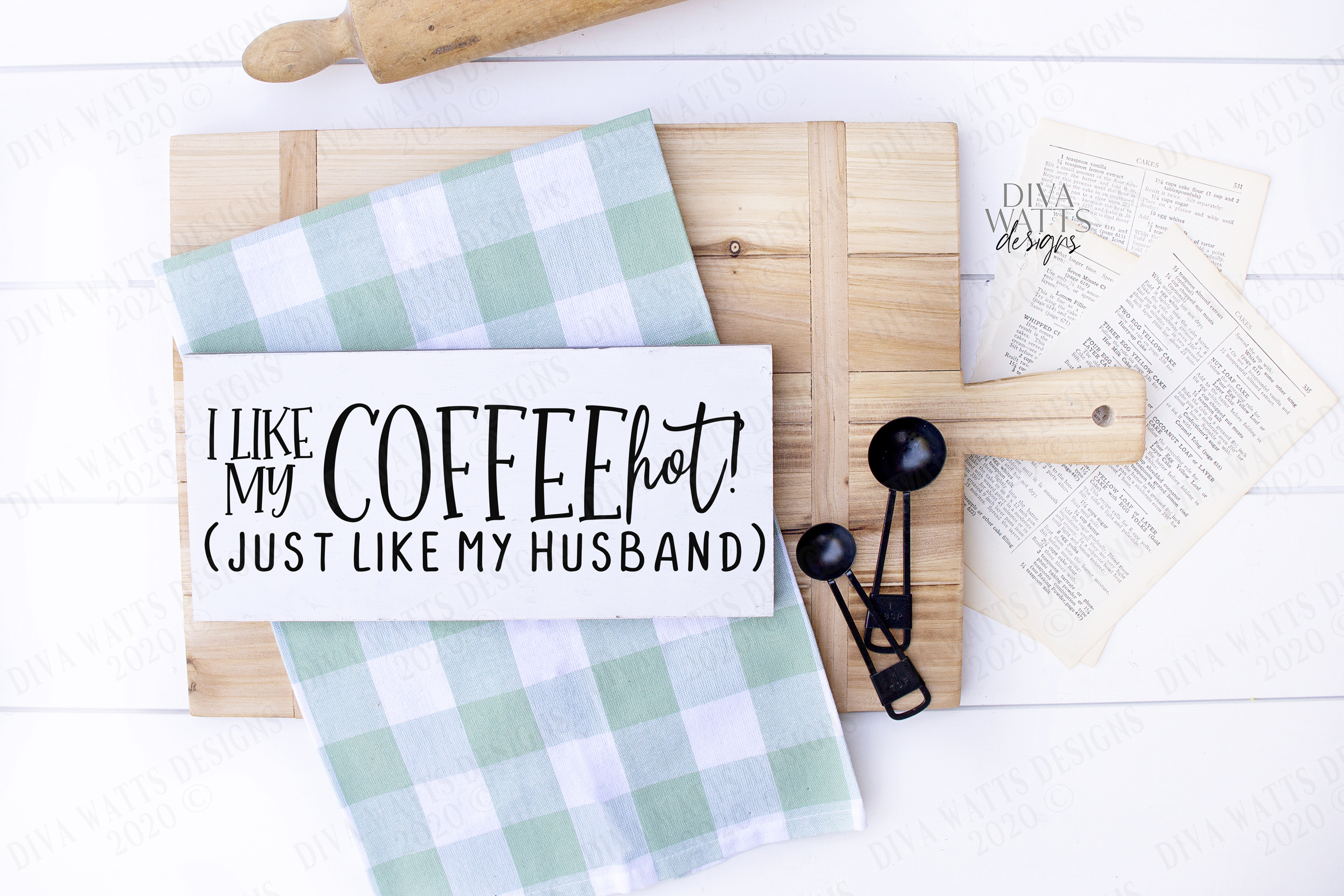 I Like My Coffee HOT! Like My Husband - Coffee Bar Humor SVG example image 1