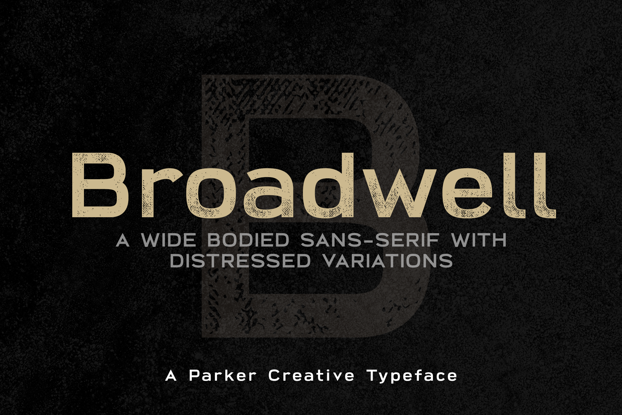 Broadwell Bold Distressed Font example image 1