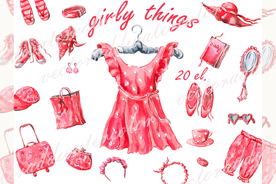 Clothes clipart, fashion clipart, dress clipart example image 1